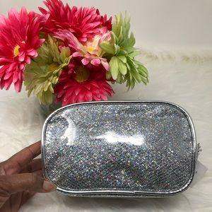 Handbags - Silver Sparkles Cosmetic Case